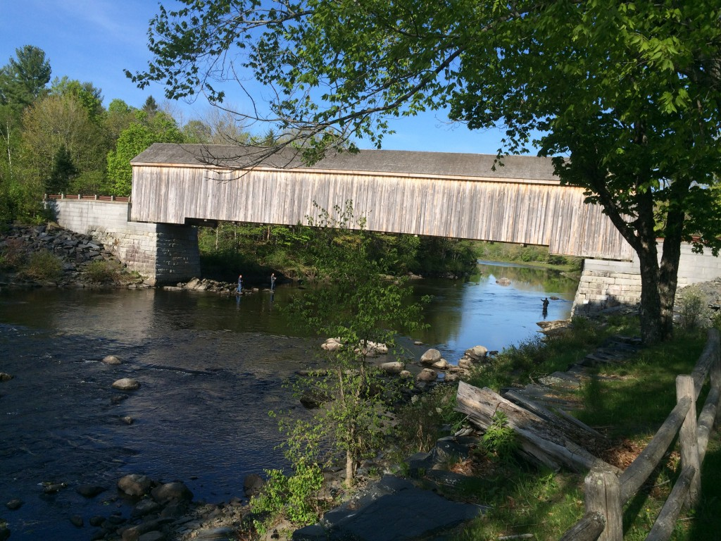 Beautiful sights in New England! We passed by this bridge on the way to speak at a church in Sangerville, ME.