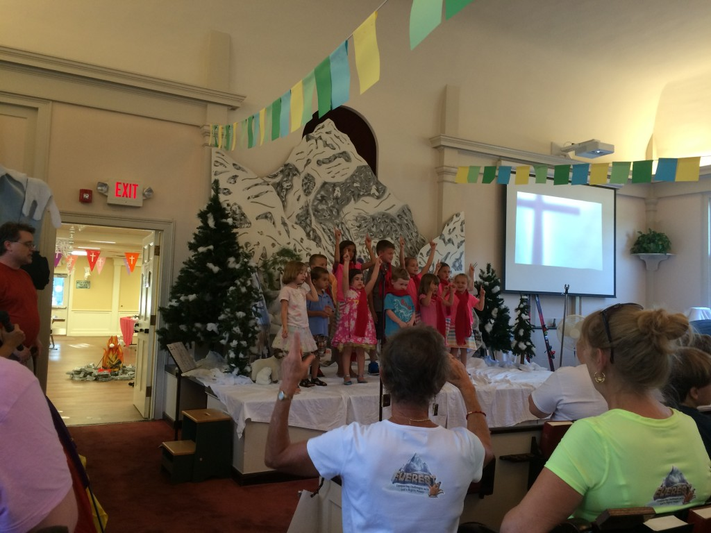 Grace loved participating in the VBS at First Congregational Church of Kingston, NH.