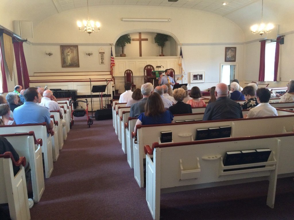 Preaching at Danville Baptist in Danville, NH.