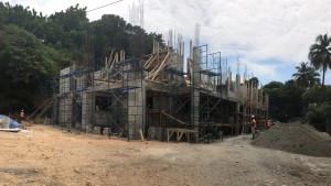 The new building at STEP Seminary is taking shape. When completed it will hold nine classrooms and 24 offices.